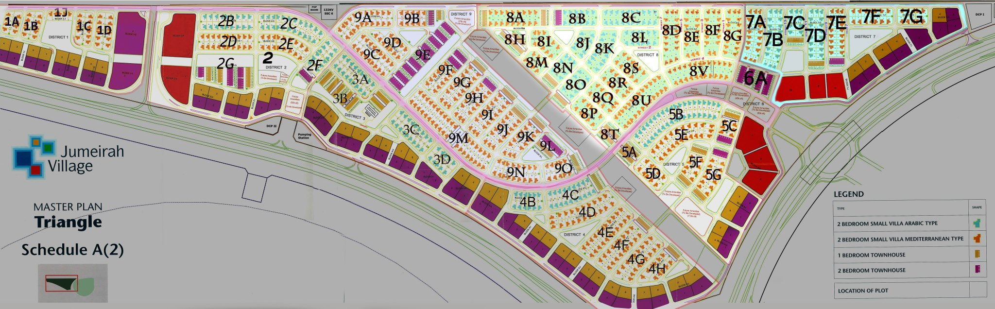 Maps Jumeirah Village Triangle