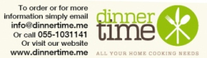 visit www.dinnertime.me for latest weekly menu