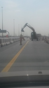 Opening to new road linking SZR with Sheikh Mohammed Rd