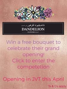 Dandelion Flowers Banner