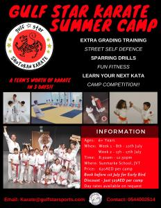 Karate Summer Camp 2018